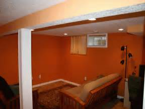 Ideas Basement Wall Colors Unfinished Basement Paint Color Ideas