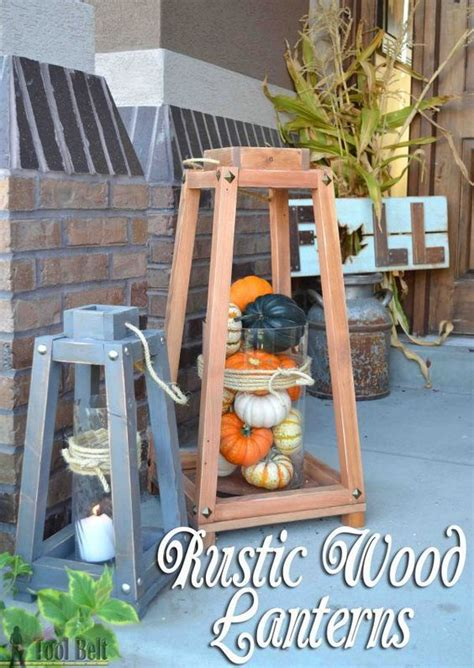 rustic charm home decor rustic wood lanterns rustic wood home and porches