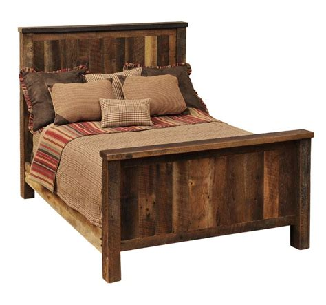 barnwood rustic traditional bed western bedroom furniture