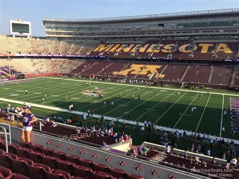bank sections tcf bank stadium section 207 rateyourseats com