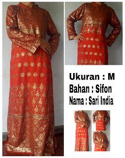 baju gamis sarri collkection busana muslim baju gamis motif india san first