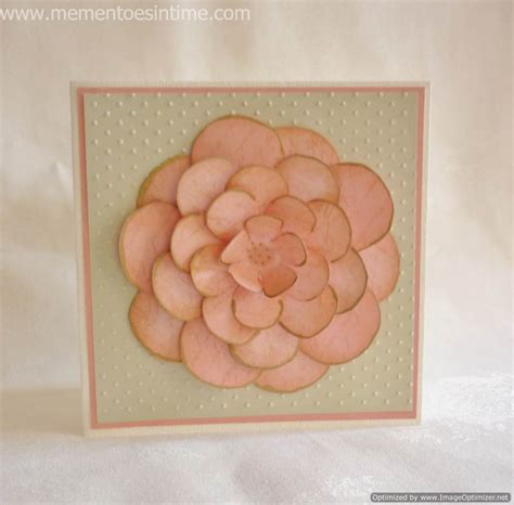 Layered Flower Card Template by Flower Templates Mementoes In Time