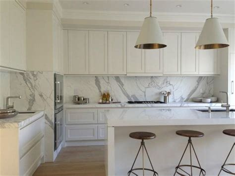 modern white shaker kitchen white shaker profile kitchen with calacatta marble