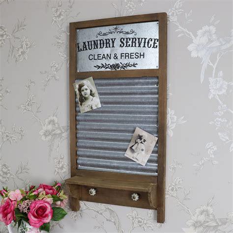 magnetic notice board hooks shelf shabby vintage chic kitchen memo home ebay