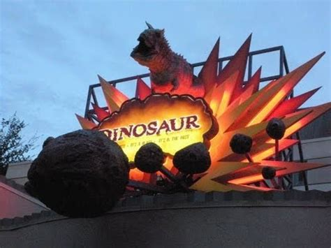 dinosaur ride front row (hd pov) nightvision disney's