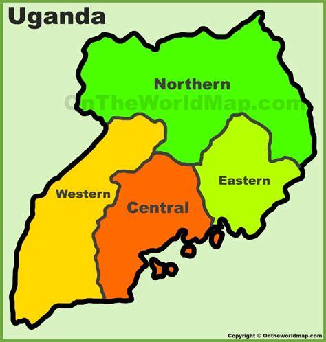 administrative divisions map  uganda