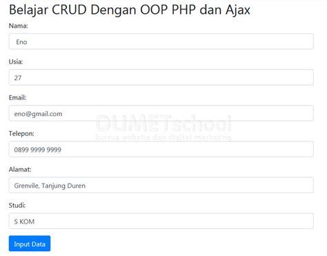 membuat login dengan php dan ajax belajar crud dengan php dan ajax part 2 membuat insert data