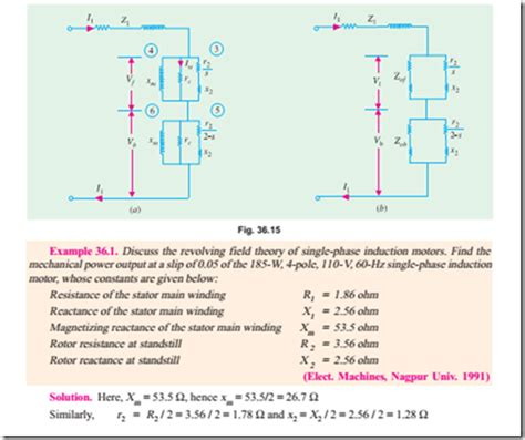 induction motor losses single phase motors equivalent circuit of a single phase induction motor without loss and