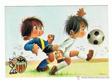 dibujos de niños jugando futball postal dibujo de ni 209 os jugando al f 218 tbol valencia c f