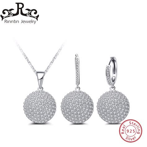 S925 Sterling Silver Hoop Necklace rinntin sterling silver s925 jewelry set hoop earrings and