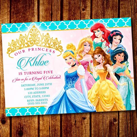 disney princess 1st birthday invitations princess princess invitation disney princess