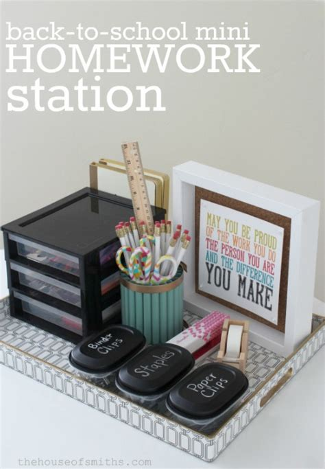 homework station ideas back to school homework station krylon mystery box