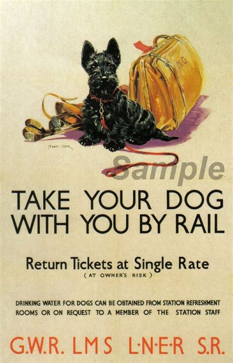 printable dog poster vintage british railways take your dog by rail a2 poster