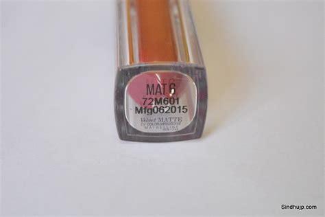 Velvet Lip Matte Maybelline maybelline velvet matte mat 6 review price lip swatch