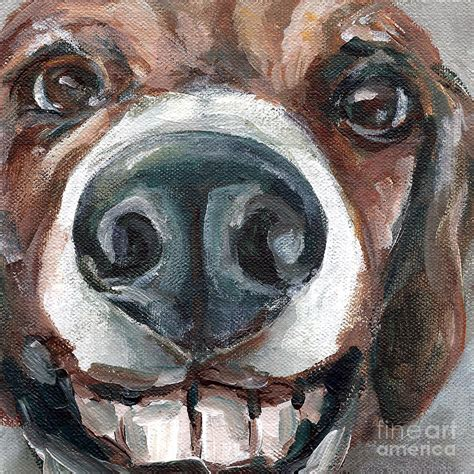 buck toothed buck toothed beagle painting by vespasian