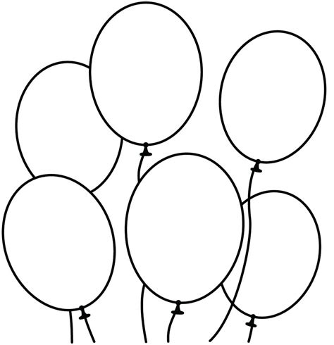 cut out template balloon cut out template