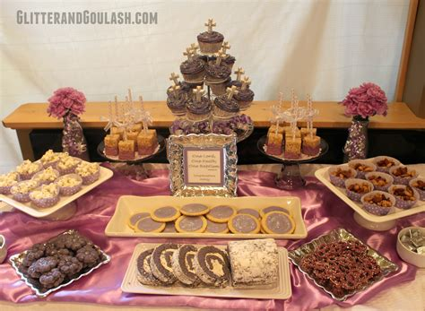 Snack Table Ideas by Purple Silver Dessert Snack Table Ideas Glitter And Goulash
