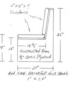 build breakfast nook dimensions search kitchen