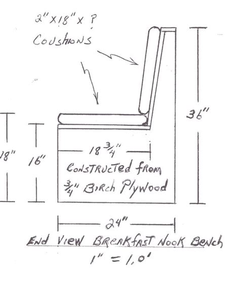 dimensions of a bench seat build breakfast nook dimensions google search kitchen