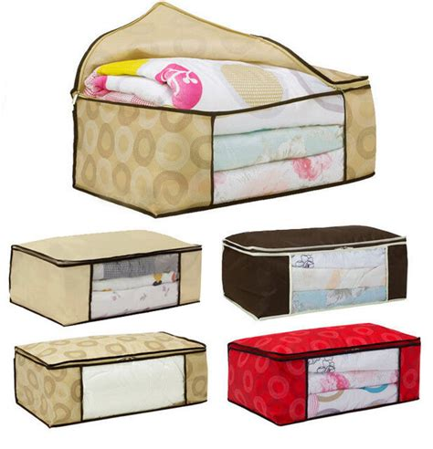 pillow storage bags newly cabinets underbed storage duvet clothes bedding
