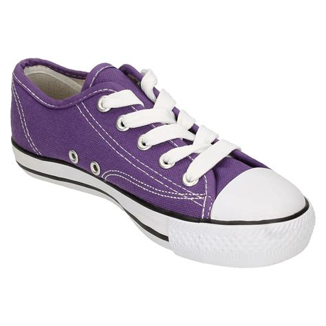 womens spot on canvas lace shoes ebay
