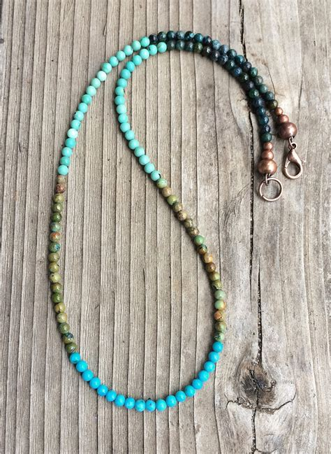 real stones for jewelry turquoise necklace genuine turquoise stones in blue green