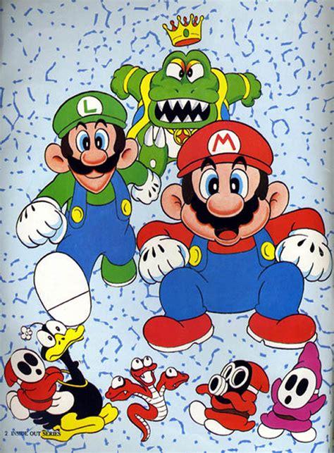 Kaos Mario Bross Mario Artworks 06 press the buttons putting the bow on birdo