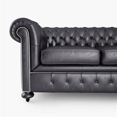 chesterfield black sofa paxton black leather chesterfield