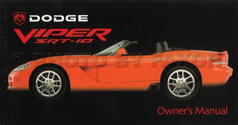 how to download repair manuals 2003 dodge viper auto manual 2003 dodge viper srt 10 owners manual original oem srt10 new nos ebay