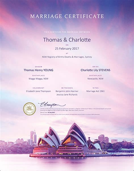 Marriage Records Nsw Marriage Certificate
