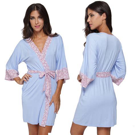 cotton knit robe 2016 modal cotton knit kimono robe floral
