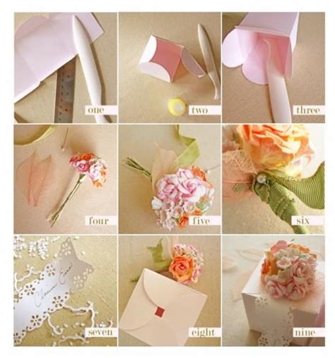 Wedding Favors Cheap Diy by Diy Flower Favor Box Once Wed