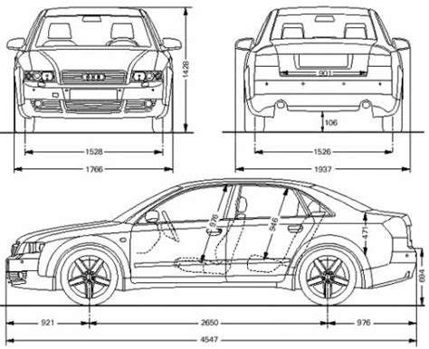 Abmessungen Audi A4 by The Blueprints Blueprints Gt Cars Gt Audi Gt Audi A4
