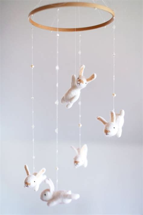 Bunny Crib Mobile by 37 Ideas To Decorate And Organize A Nursery Digsdigs