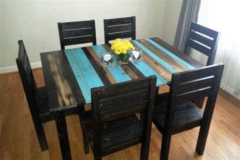 Distressed Dining Table And Chairs Distressed Rustic Dining Table Kitchen Table By Buehlerfurniture