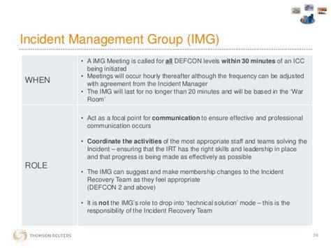 Managing A Major Incident Incident Management Communication Template