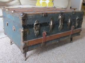 steamer trunk coffee table late 1800s steamer trunk coffee table