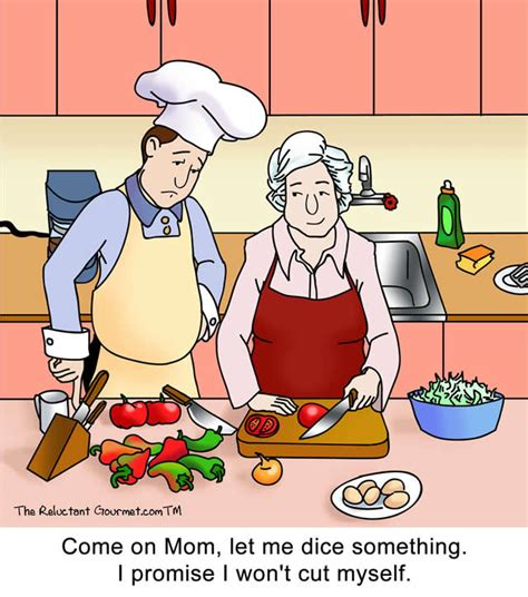 How To Make Kitchen Knives by Dicing Onions Cartoon The Reluctant Gourmet