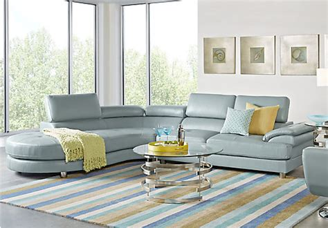 sofia vergara sectional sofa 1 455 00 cassinella hydra sky light blue blue 5 pc