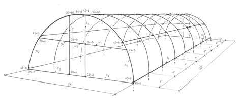 greenhouse designs floor plans parts and diagram that describe the construction of a
