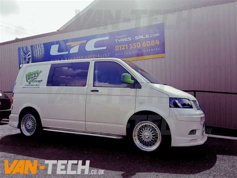 volkswagen van wheels calibre vintage 19 silver alloy wheels vw t5 van tech