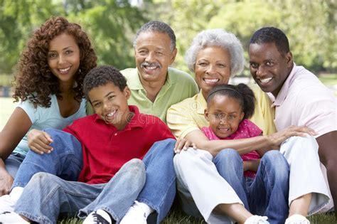 imagenes de la familia extensa retrato del grupo de la familia extensa en parque imagenes