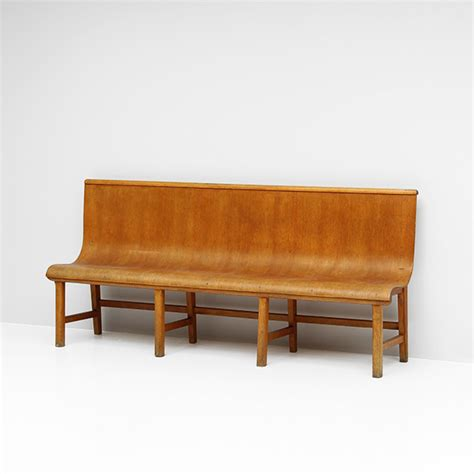 plywood bench city furniture 1950s decorative plywood bench