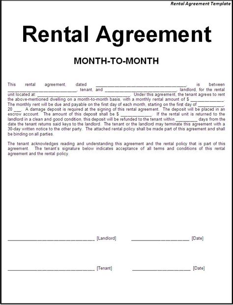 lease agreement contract template rental agreement template page word excel pdf