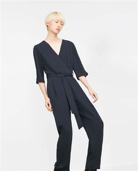Zara Overall by Zara Crossover Jumpsuit In Blue Lyst