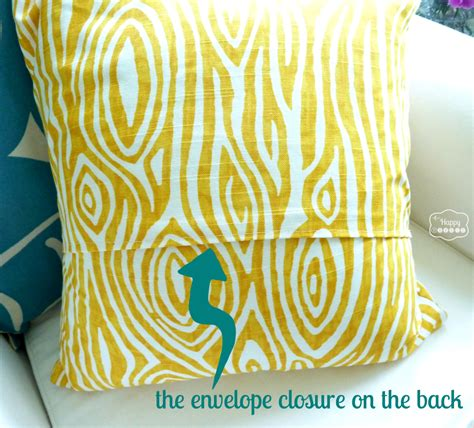 How To Make Envelope Pillow Covers by Easy Fast Ten Minute One Envelope Pillow