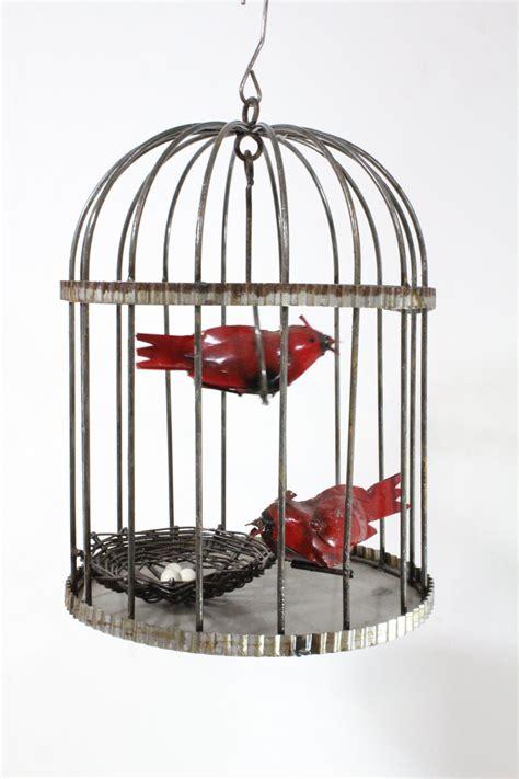 patio bird cages wrought iron bird cage with cardinal