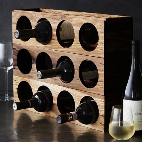 Williams Sonoma Wine Rack walnut stacking wine rack williams sonoma