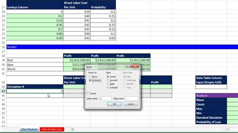 Basic Excel Business Analytics 66 Monte Carlo Simulation For New Product 3 Uncertain Monte Carlo Simulation Excel Template