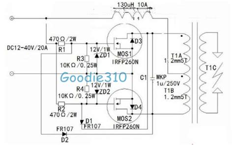 induction heating driver circuits transformer tesla coil driver on induction heater schematic diagram transformer get free image